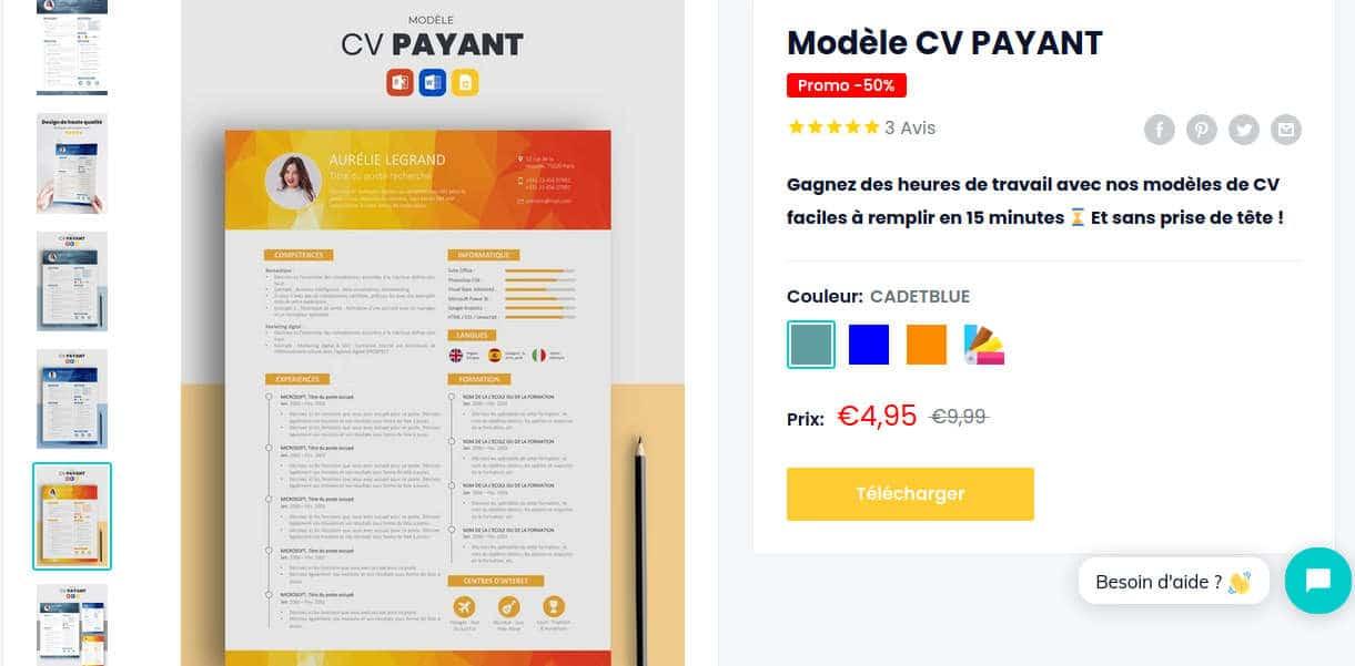 modèle de CV à télécharger