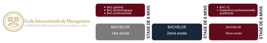 Formation hôtellerie de luxe :programme bachelor iCARE